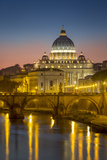 River Tibor and the Dome of San Pietro, Vatican, Rome, Lazio, Italy Photographic Print by Brian Jannsen