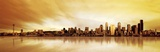 Golden Skyline Prints by  Fline