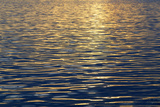 Canada, Sidney Island. Sunset Reflected in Gentle Waves at Sidney Spit Photographic Print by Kevin Oke