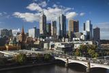 Australia, Victoria, Melbourne, Skyline, Yarra River, Princess Bridge Photographic Print by Walter Bibikow
