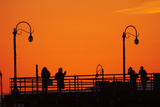 Los Angeles, Santa Monica, Santa Monica Pier at Sunset Photographic Print by David Wall