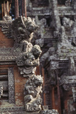 Indonesia, Bali, Ubud, Carvings in Temple in Monkey Forest Sanctuary Photographic Print by Paul Souders