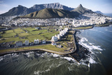 South Africa, Capetown, Aerial View of City Fotografisk tryk af Stuart Westmorland
