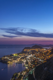 Croatia, Dubrovnik, Looking Down on Dubrovnik Old Town at Twilight Photographic Print by Rob Tilley