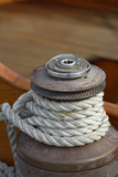 Washington State, Port Townsend. Barient Winch on an Old Wood Sailboat Photographic Print by Kevin Oke