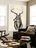 Watercolor Deer Head 3 Art by Ben Gordon