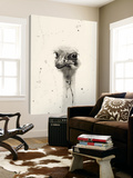 Watercolor Ostrich 2 Poster by Ben Gordon