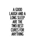 A Good Laugh and a Long Sleep Poster autor Brett Wilson