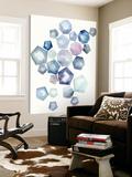 Watercolor Hexagons A Prints by Natasha Marie