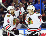 Duncan Keith & Teuvo Teravainen Goal Celebration Game 1 of the 2015 Stanley Cup Finals Photo