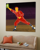 First Base Catch 2 Prints by Robert Williamson
