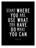 Start Where You Are Art par Brett Wilson