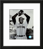 Satchel Paige - Ball in glove Framed Photographic Print