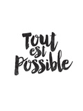 Tout Est Possible Poster by Brett Wilson