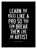 Learn The Rules Like a Pro Lámina por Brett Wilson