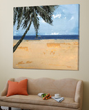 Peaceful Beach 1 Posters by David Dauncey