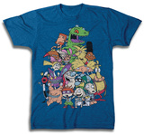 Nickeloeon Super Group Family Portrait T-shirts