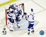 The Tampa Bay Lightning Celebrate Winning 2015 Eastern Conference Finals Photo