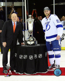 Steven Stamkos with Prince of Whales Trophy 2015 Eastern Conference Finals Photo