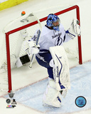 Ben Bishop Celebrates Winning Game 7 of the 2015 Eastern Conference Finals Photo
