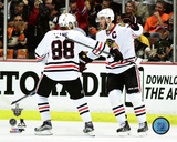 Patrick Kane & Jonathan Toews Goal Celebration Game 7 of the 2015 Western Conference Finals Photo