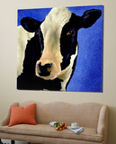Blue Moo Moo Prints by Will Bullas
