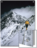 Climbers, 25,000 Feet Up, Push on Toward the Summit of Mount Everest Prints by Barry Bishop