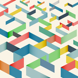 Colorful Geometric Pattern Background Prints by  Jumpeestudio