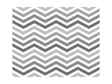 Gray Zigzag Pattern Background Prints by Karen Roach