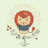 Zodiac Sign - Leo, Lion Posters by Tatsiana Tsyhanova