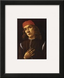Portrait of Youth Posters by Sandro Botticelli