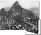 An Elevated View of About Half of the City of Machu Picchu Prints by Hiram Bingham