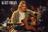 Kurt Cobain Unplugged Landscape Poster