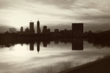 Black and White Panorama of Indianapolis Photographic Print by  benkrut