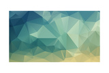 Colorful Polygon Print by  tontectonix