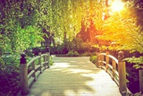Scenic Garden Bridge Photographic Print by Tomasz Zajda