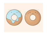 Two Smiling Donuts Art by  korinoxe