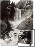 Vernal Falls Plunges to the Rock Gorged Merced River Prints by Harriet Chalmers Adams