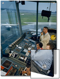 Air Traffic Controllers Direct Traffic from a Radio Console Posters by David Boyer
