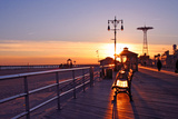 Coney Island Sunset Photographic Print by Janice Barchat