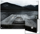 A Small Dock on Vermillion Lakes at Dusk Posters by Keith Barraclough