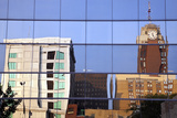 Lansing Downtown Reflected Photographic Print by  benkrut