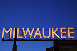 Red Milwaukee Sign Photographic Print by  benkrut