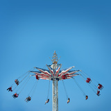 Coney Island's Trapeze, New York. Photographic Print by  pio3