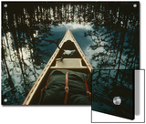 Bow of a Canoe Set against Trees Reflected in the Still Water Art by Sam Abell