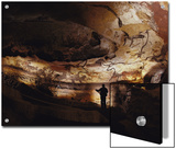 Paleolithic Bulls and Other Animals Crowd Calcite Walls at Lascaux, France Prints by Sisse Brimberg