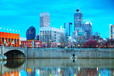 Downtown of Indianapolis Photographic Print by  photo ua