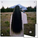 The Chief of the Winnemem-Wintu Tribe Sends Smoke Prayers Up to Mount Shasta Prints by Lynn Johnson