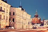 Evening in Helsinki - View from Market Square Photographic Print by  benkrut