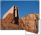 Chapel of the Holy Cross Church on a Cliff in Sedona, Arizona Poster by John Burcham
